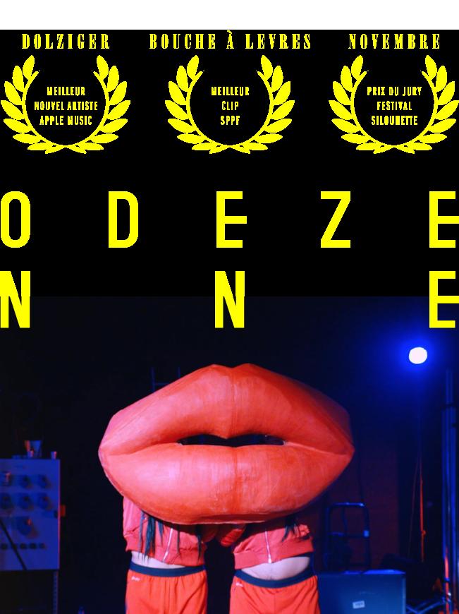 Odezenne : Meilleur nouvel artiste Apple Muic - Meilleur clip SPPF - Prix du Jury Festival SIlouhette